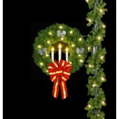 3' TRI-CANDLE WREATH