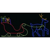 14' x 30' SLEIGH & REINDEER IN LED